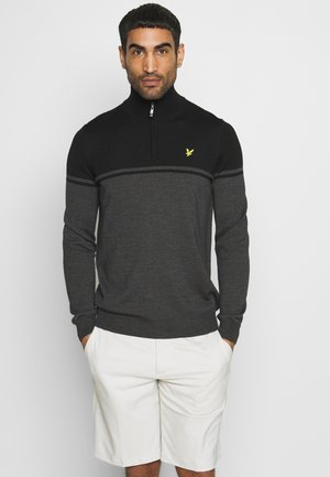 CROFT 1/4 ZIP - Pullover - graphite/true black