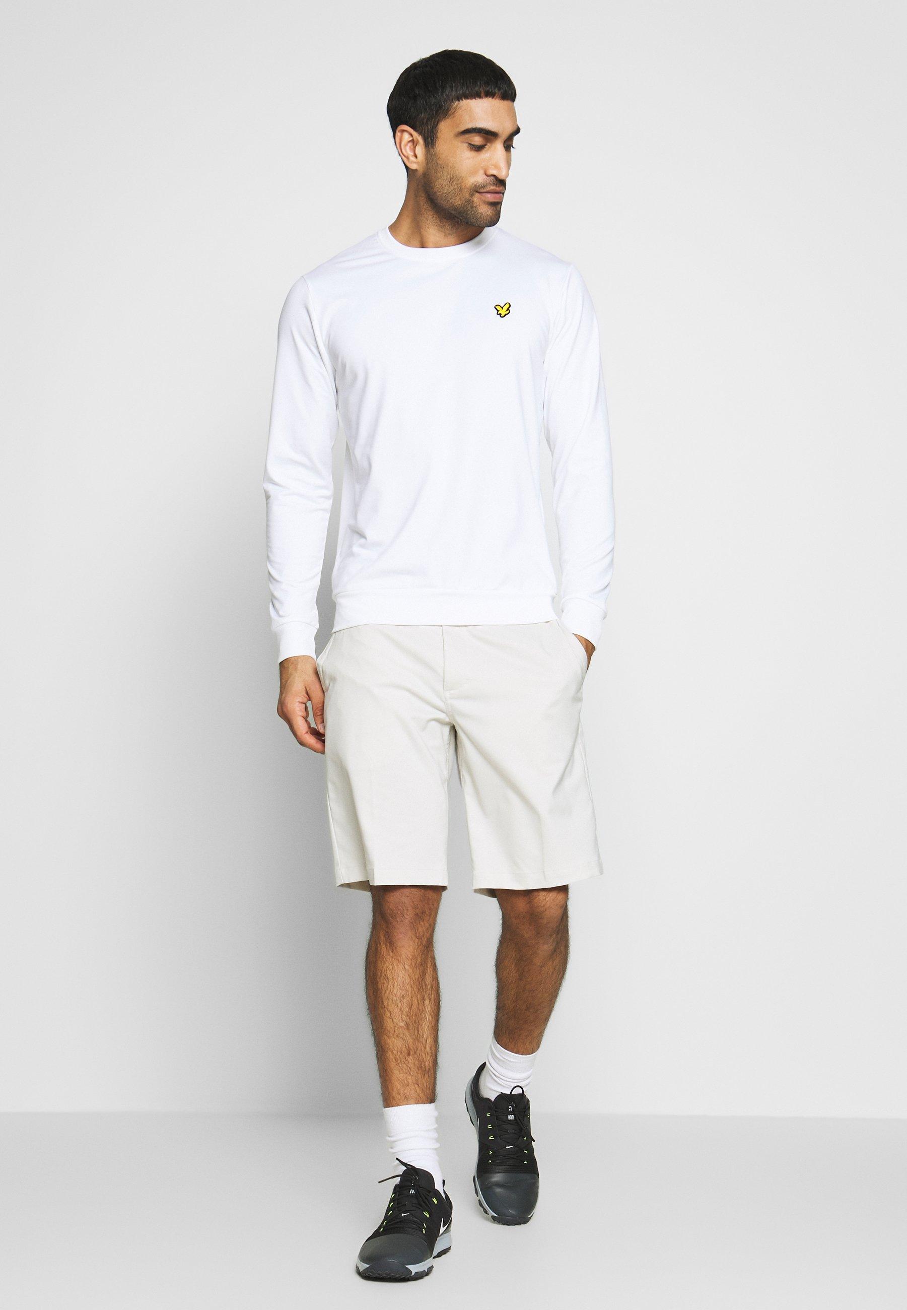 Lyle & Scott Golf Tech Crew Midlayer - Sweatshirts White