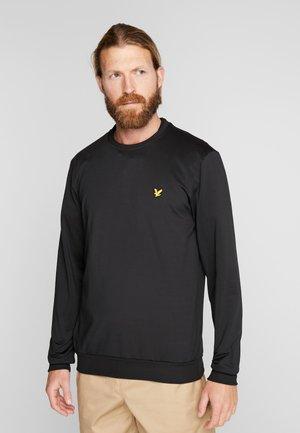 GOLF TECH CREW MIDLAYER - Sweatshirt - true black