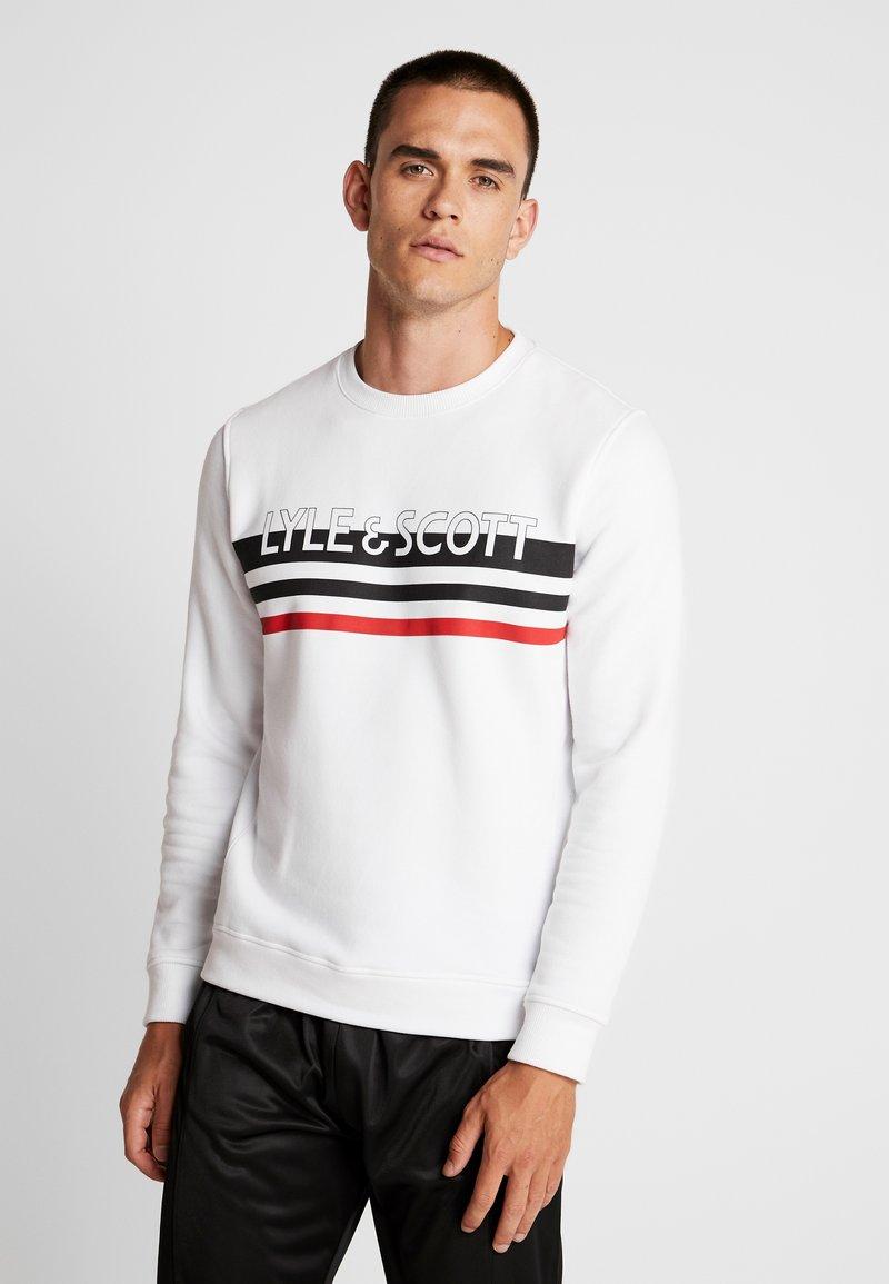 Lyle & Scott - SCRIPT LOGO  - Sweatshirt - white