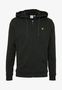 Lyle & Scott - HOODED FULL ZIP MIDLAYER - Mikina na zip - deep spruce marl - 3