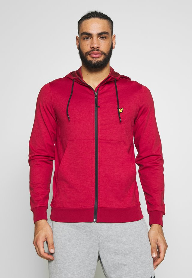 SUPERWICK FULL ZIP MIDLAYER - Collegetakki - turbo red