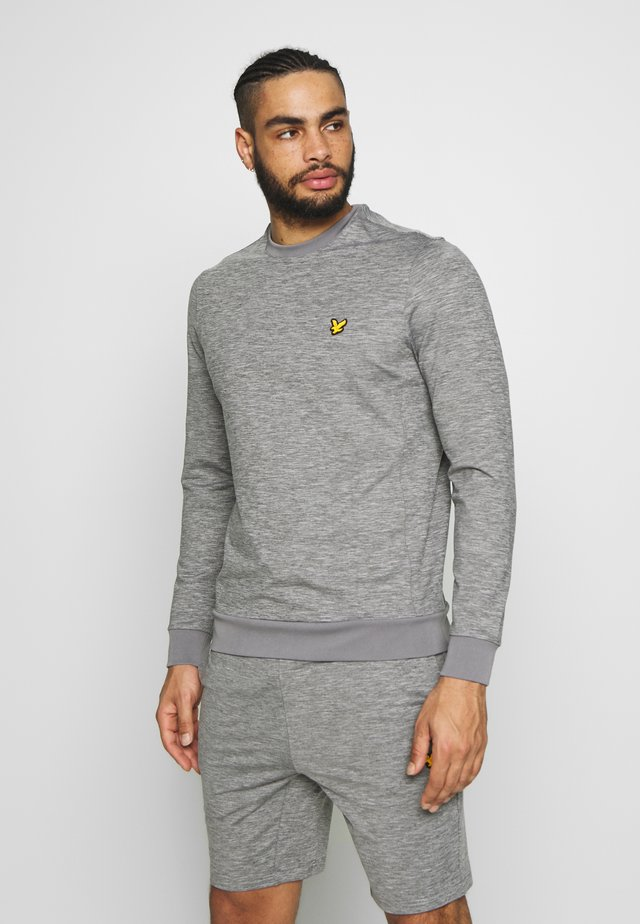 SUPERWICK CREW NECK MIDLAYER - Bluza - mid grey marl