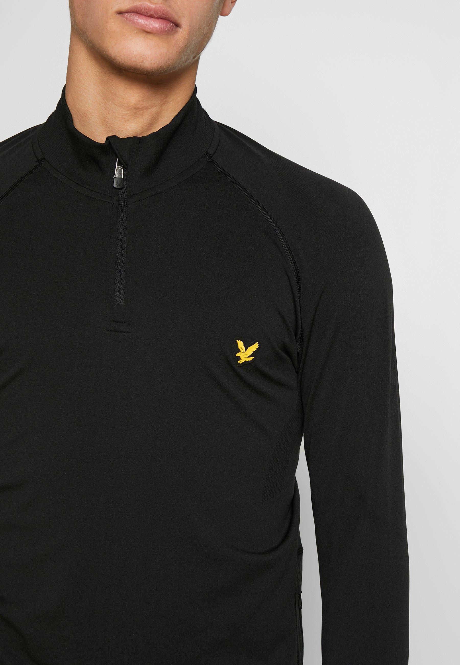 Lyle & Scott Performance Seamless Midlayer - T-shirt De Sport True Black Marl
