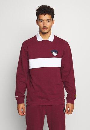 MALBON L&S COLLAR - Sweater - claret jug
