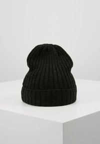 Lyle & Scott - MOULINE BEANIE - Čepice - true black/jade green - 2