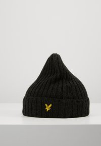 Lyle & Scott - MOULINE BEANIE - Čepice - true black/jade green - 3