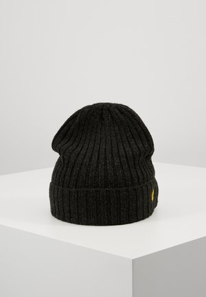 MOULINE BEANIE - Mütze - true black/jade green