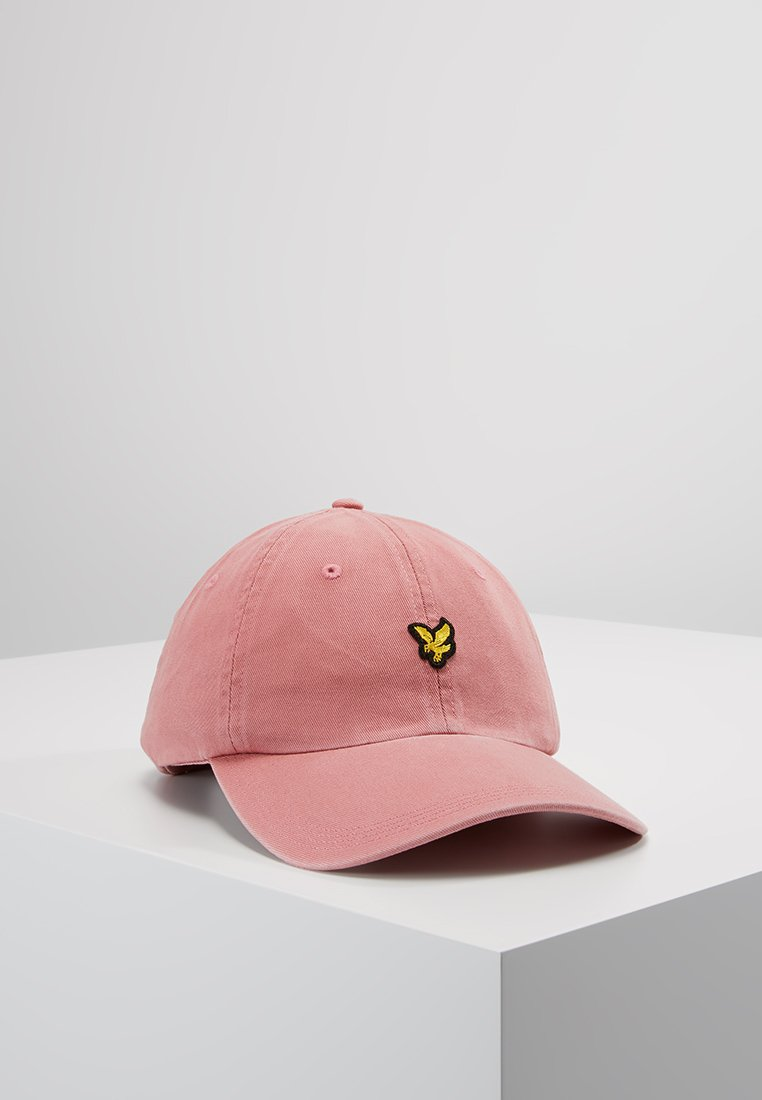 Lyle & Scott - WASHED  BASEBALL CAP - Pet - pink shadow