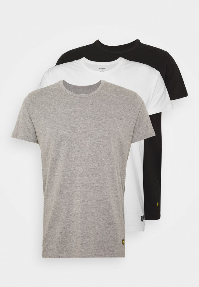 MAXWELL - Pyjama top - bright white/grey marl/black