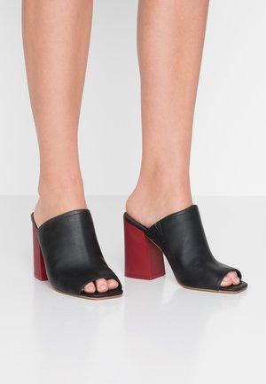 SUSI VEGAN  - Pantofle na podpatku - black