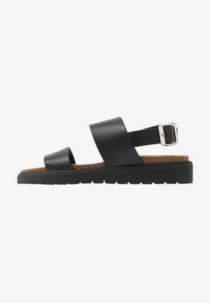 VEGAN ASHAI - Sandals - black/natural