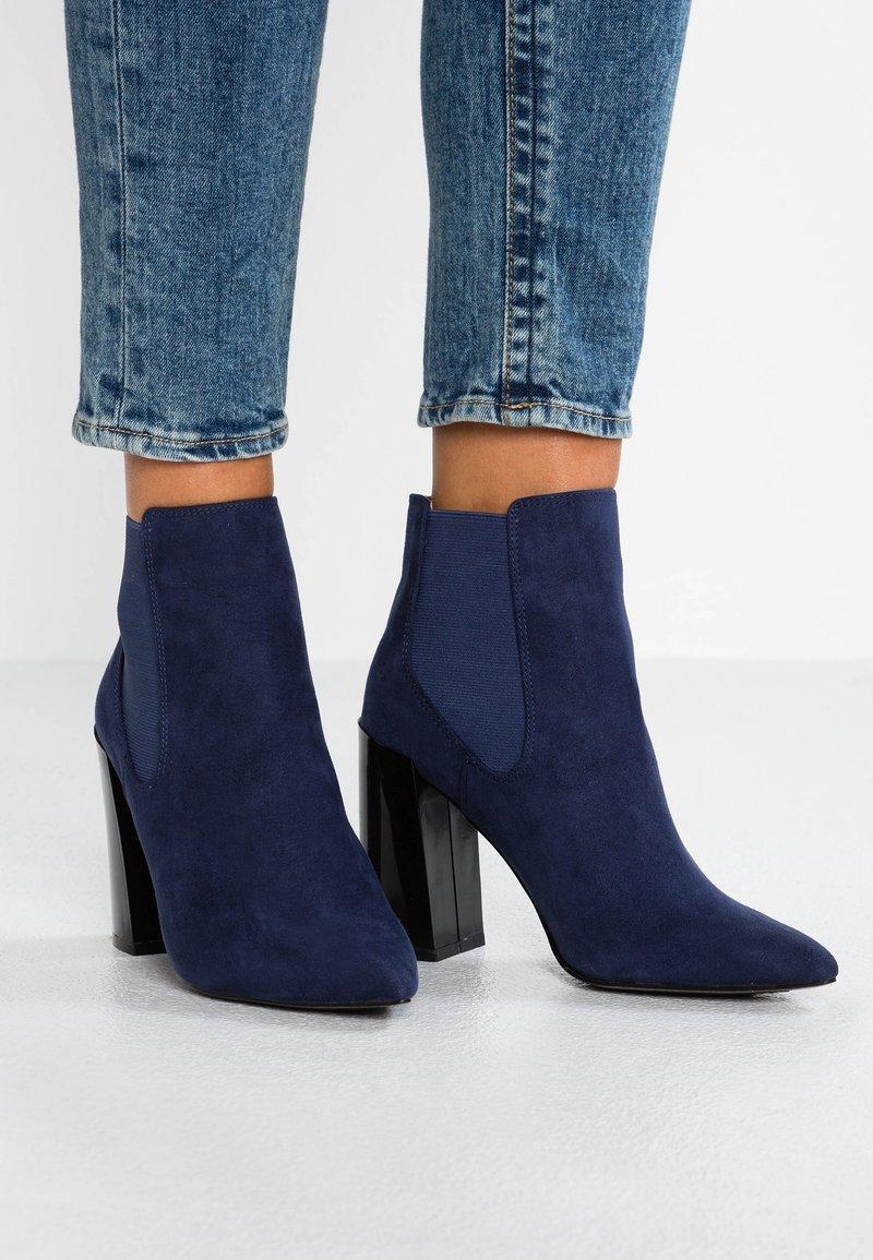 Matt & Nat - FRAN - High heeled ankle boots - navy