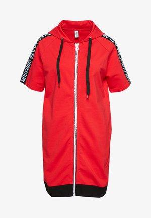 MAXI ZIPPED HOODIE - Korte jurk - red