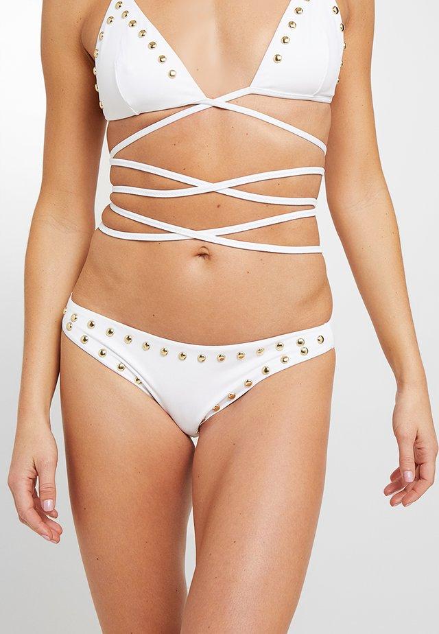 FASHION STUDS BRIEF - Bikini-Hose - white