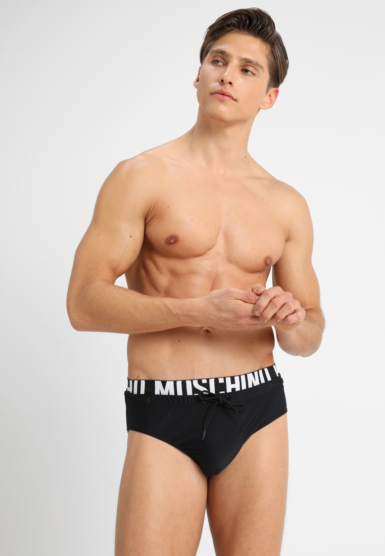 MOSCHINO SWIM - BRIEF - Kąpielówki - black