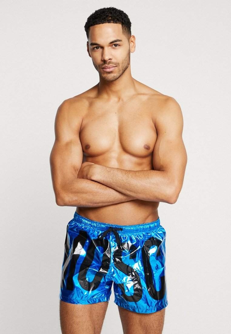 MOSCHINO SWIM - BOXER BRIEF FASHION LAMINA - Swimming shorts - blue atoll