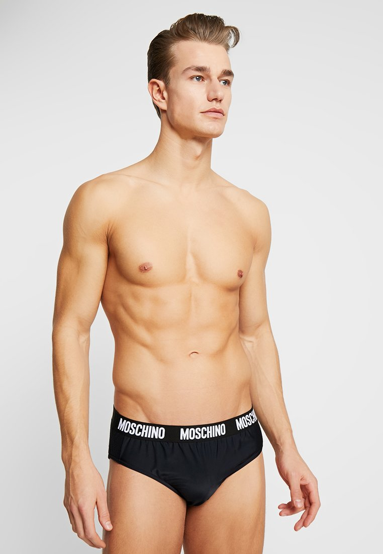 MOSCHINO SWIM - BRIEF FASHION - Plavky slipy - black