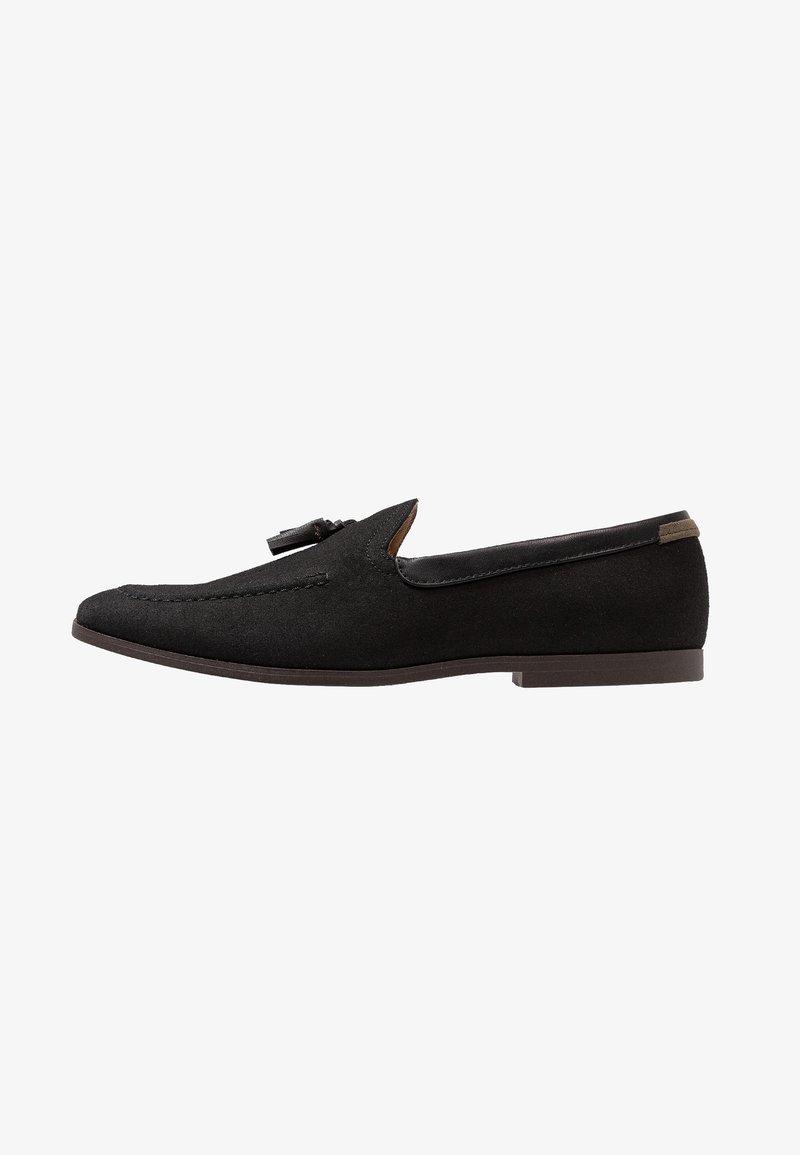 Burton Menswear London - SILVIO TASSEL LOAFER - Slipper - black