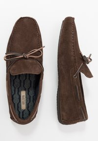 Burton Menswear London - FLINT LACE DRIVER - Mokasíny - brown - 1