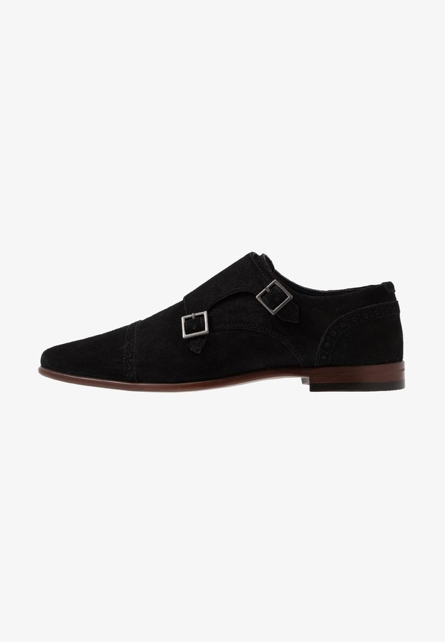 MONK - Smart lace-ups - black