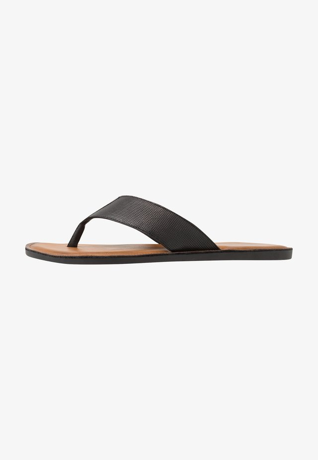 FAGER THONG - T-bar sandals - black