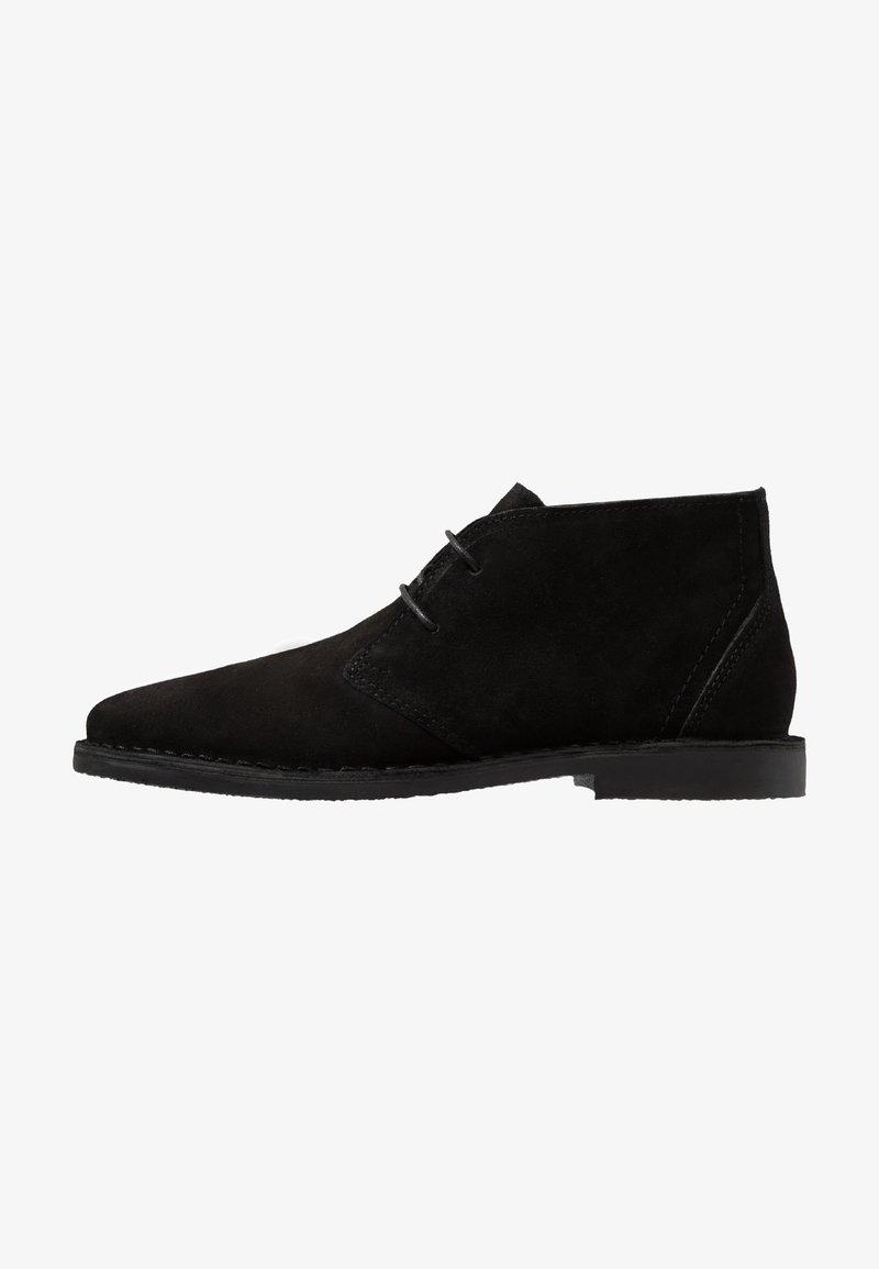 Burton Menswear London - CASTLE DESERT BOOT - Casual lace-ups - black