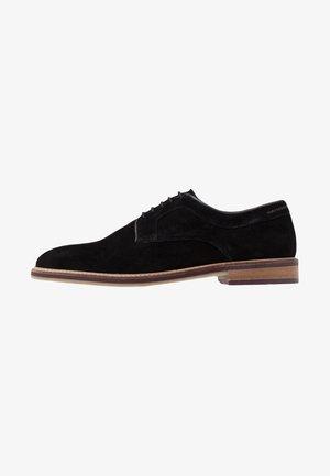 PORT DERBY - Smart lace-ups - black