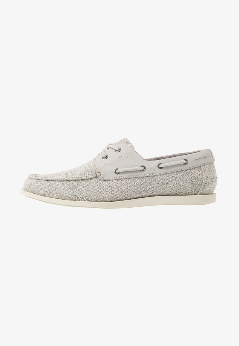 Burton Menswear London - FLETCH BOAT SHOE - Náuticos - grey