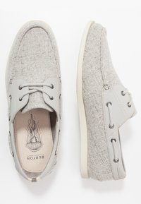 Burton Menswear London - FLETCH BOAT SHOE - Náuticos - grey - 1