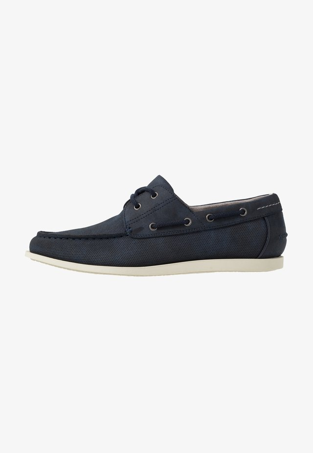 FLETCH BOAT SHOE - Boat shoes - navy