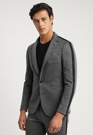 SIDE STRIPE  - Blazer jacket - charcoal