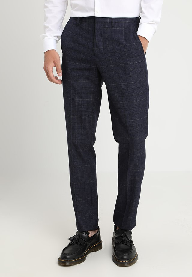 CHESNUT CHECK - Suit trousers - navy