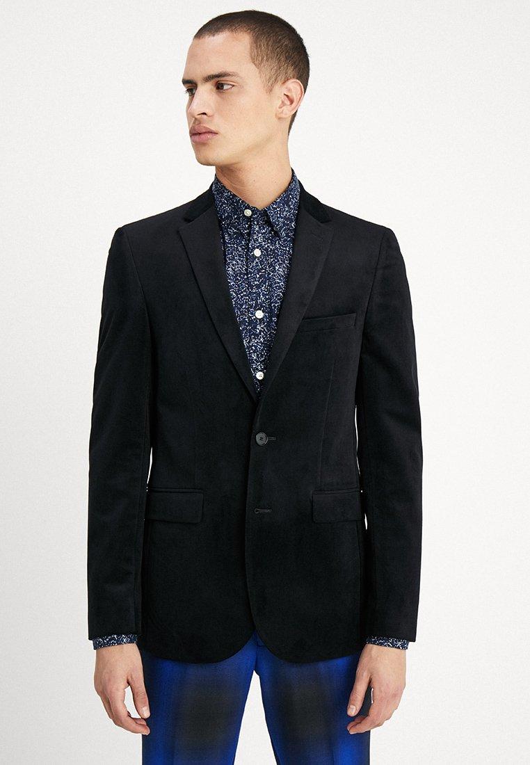 Burton Menswear London - NOTCH VELVET - Kavaj - black