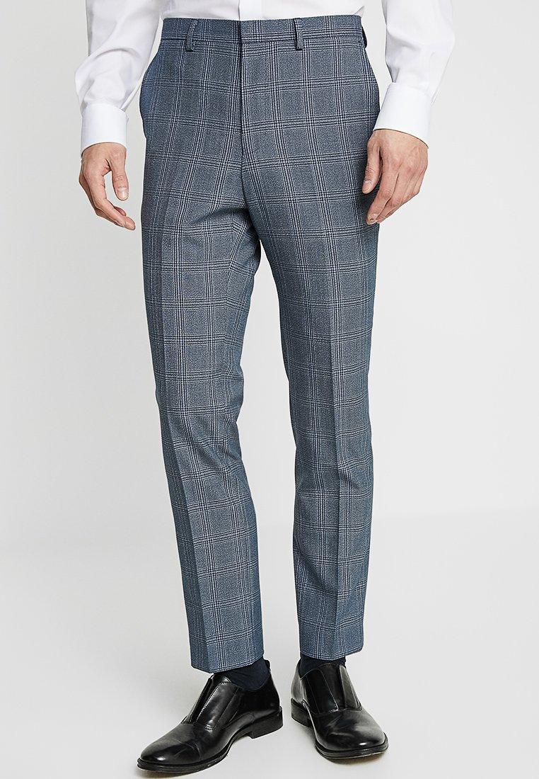 Burton Menswear London - BOLD CHECK - Pantaloni eleganti - blue