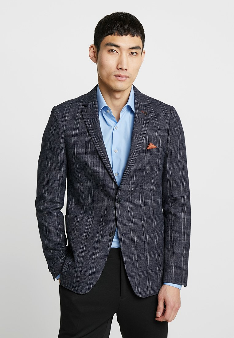 Burton Menswear London - LIGHT POW CHECK - Suit jacket - navy