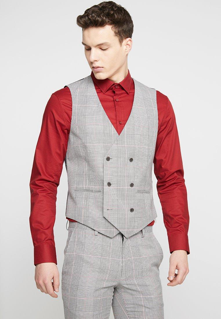 Burton Menswear London - POW CHECK - Anzugweste - black