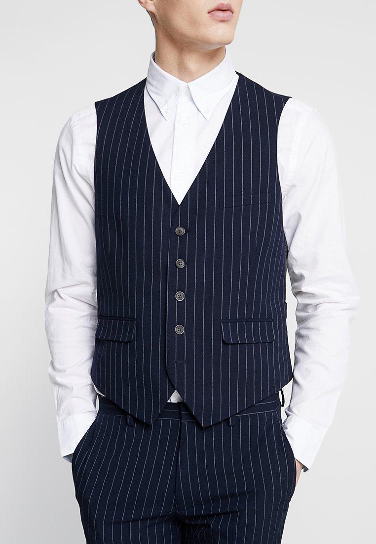 Burton Menswear London - STRIPE - Anzugweste - navy