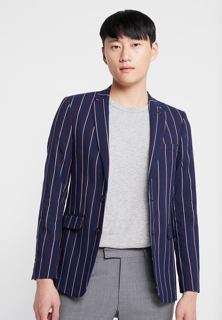 Burton Menswear London - BURG BOLD STRIPE  - Sako - navy