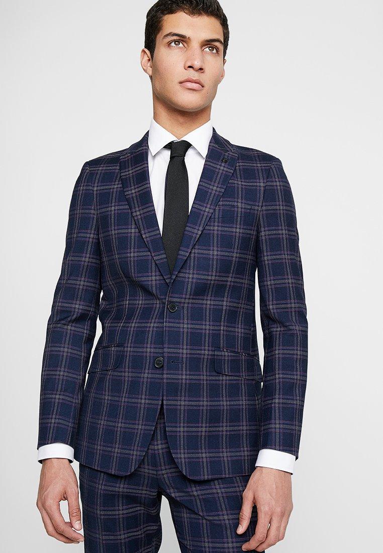 Burton Menswear London - TARTAN JACKET - Anzugsakko - navy