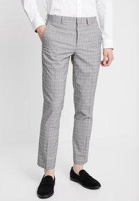 Burton Menswear London - POW CHECK  - Anzughose - light grey - 0