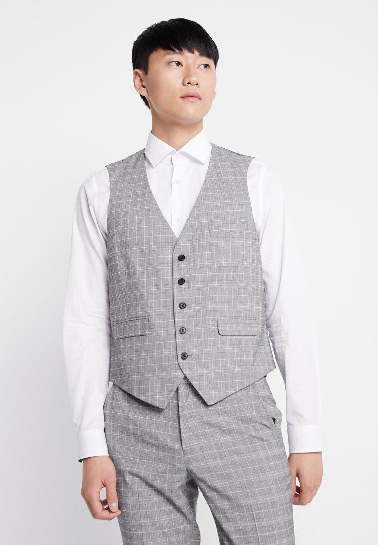 Burton Menswear London - MULTI POW CHECK - Anzugweste - light grey