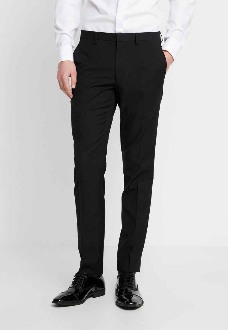 Burton Menswear London - BLACK SKINNY TUX  - Jakkesæt bukser - black