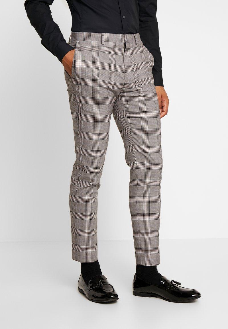 Burton Menswear London - RETRO CHECK - Suit trousers - grey
