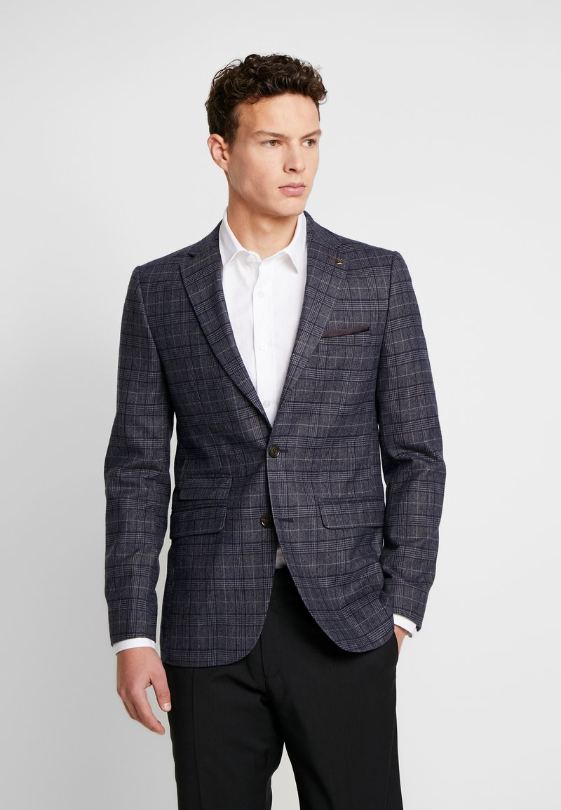 Burton Menswear London - HIGHLIGHT POW CHECK - Blazer jacket - blue
