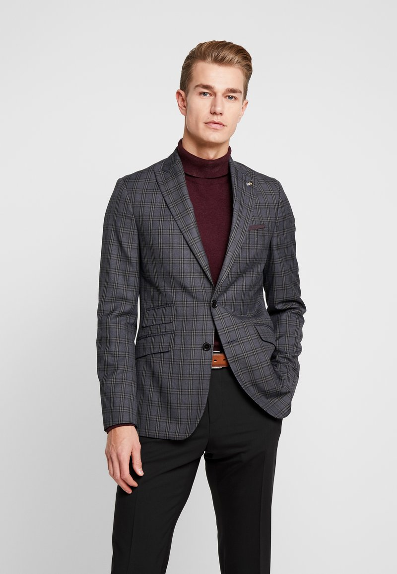 Burton Menswear London - PLAID CHECK - Giacca - blue