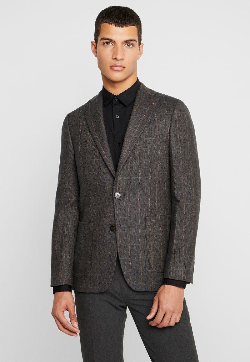 Burton Menswear London - CHECK HERRINGBONE - Blazer jacket - brown