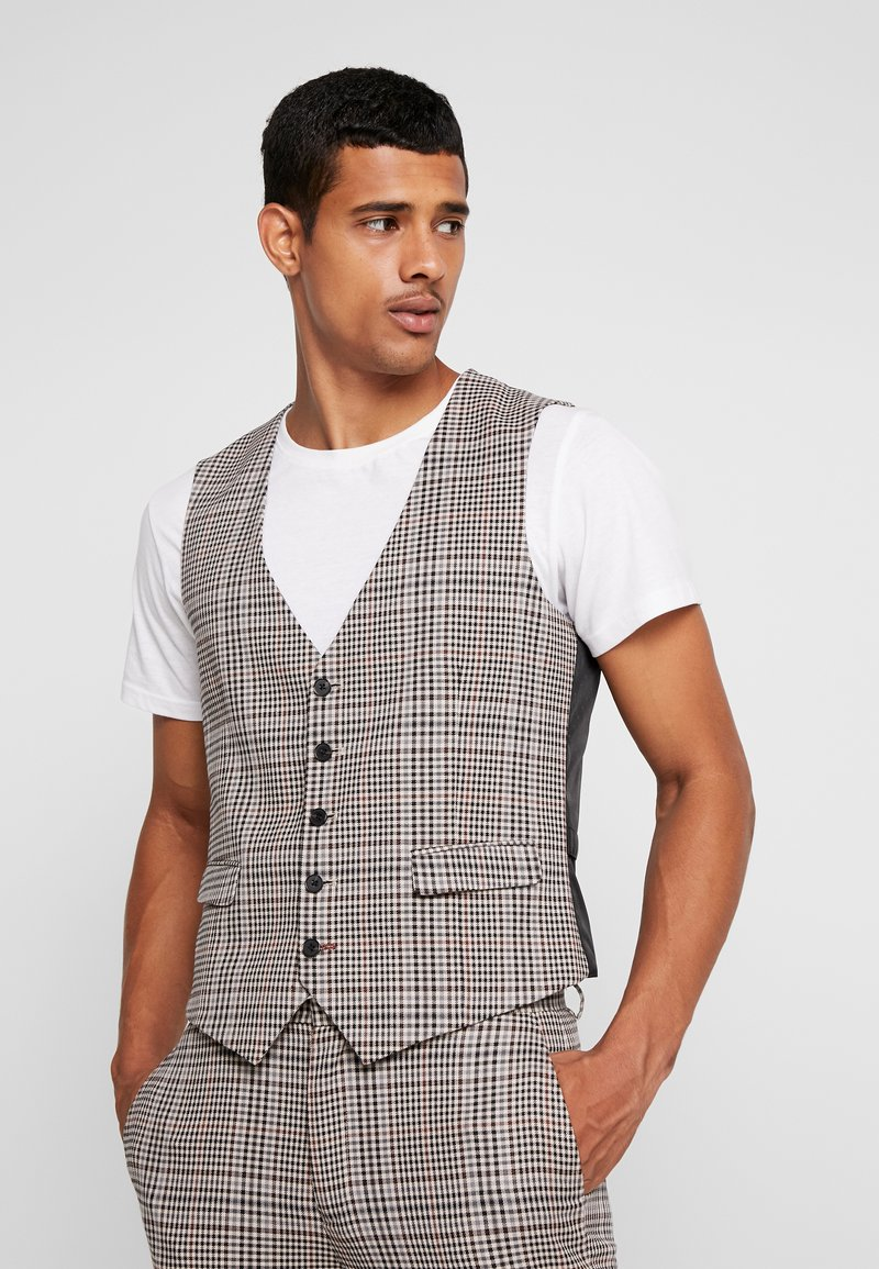 Burton Menswear London - HOUSE CHECK - Suit waistcoat - neutral