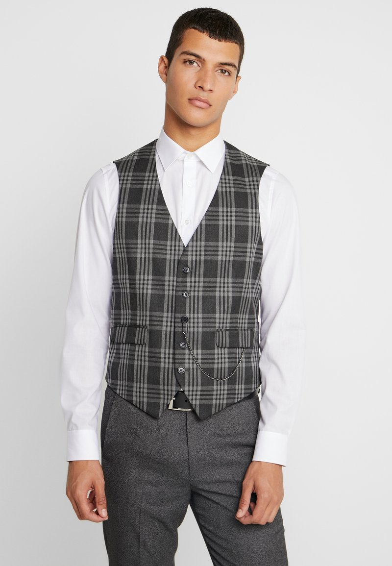 Burton Menswear London - LARGE TARTAN - Anzugweste - grey