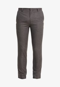 Burton Menswear London - BURG HOUNDTOOTH - Dressbukse - burgundy - 4